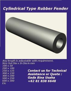 cylindrical rubber fenders