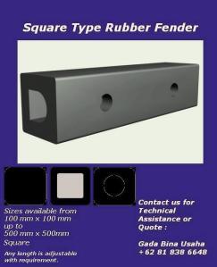square rubber fenders